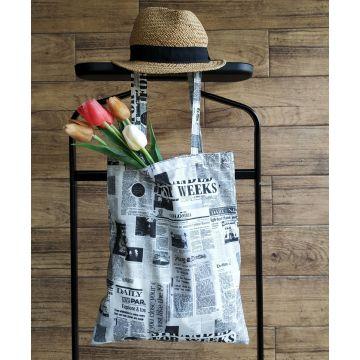 Plátěná taška vzor noviny